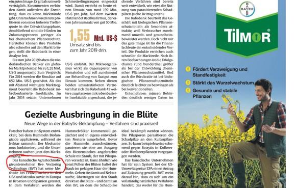 Die Erwähnung von Bee Vectoring in der renommierten deutschen Fachpresse ist ein klarer Fingerzeig: Hier entsteht etwas äußerst Spannendes!